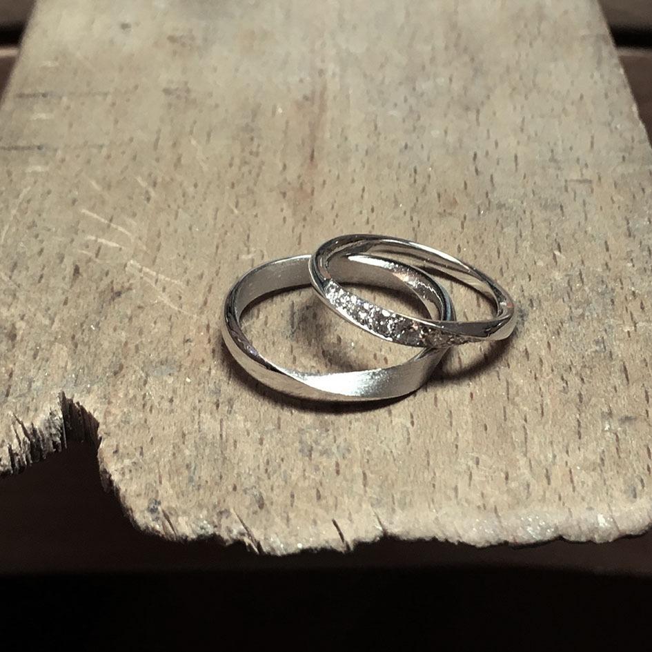 collection femme alliances or gris diamant or brosse etabli