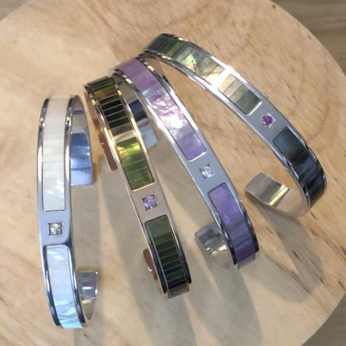 4 bracelets Arc en ciel vue haut