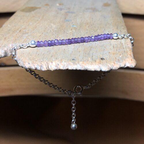 collection femme bracelet argent chaine jaseron grenat améthyste établi petit poucet