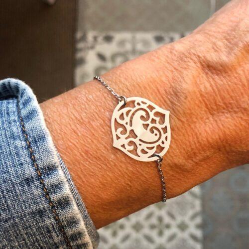 bracelet oiseau des iles en or gris collection femme collection ephemere bracelet porte