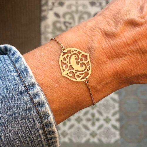 bracelet oiseau des iles en or rose collection femme collection ephemere bracelet porté