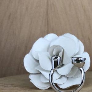 collection Bague toi et moi or gris diamant taille ancienne saphir cliente fleur en papier